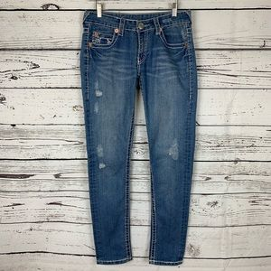 True Religion Distressed Skinny Jean